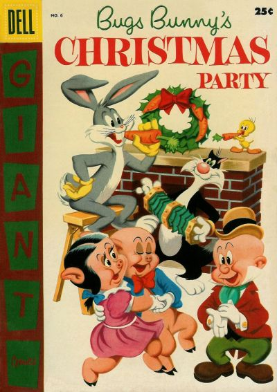 Cover for Bugs Bunny's Christmas Party (Dell, 1955 series) #6