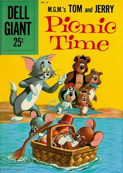 Cover for Dell Giant (Dell, 1959 series) #21 - M.G.M.'s Tom and Jerry Picnic Time