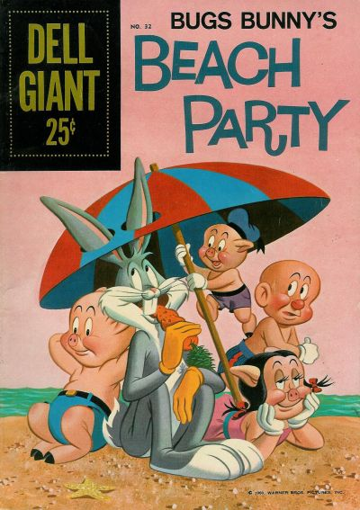 Cover for Dell Giant (Dell, 1959 series) #32 - Bugs Bunny's Beach Party