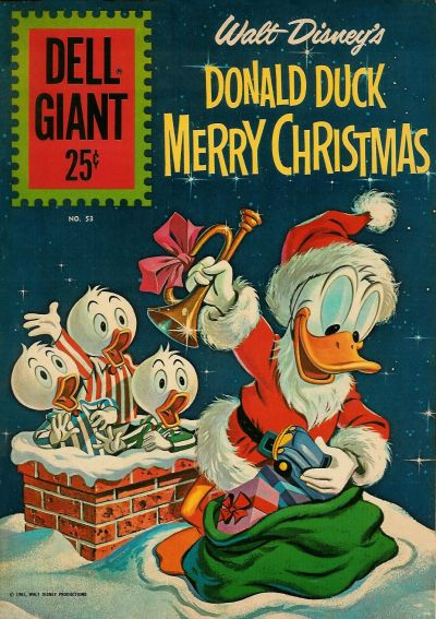 Cover for Dell Giant (Dell, 1959 series) #53 - Walt Disney's Donald Duck Merry Christmas