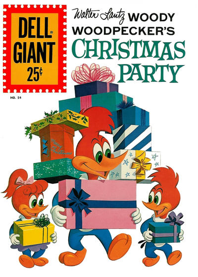 Cover for Dell Giant (Dell, 1959 series) #54 - Walter Lantz Woody Woodpecker's Christmas Party