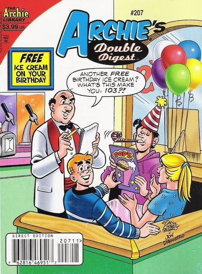 Cover for Archie's Double Digest Magazine (Archie, 1984 series) #207