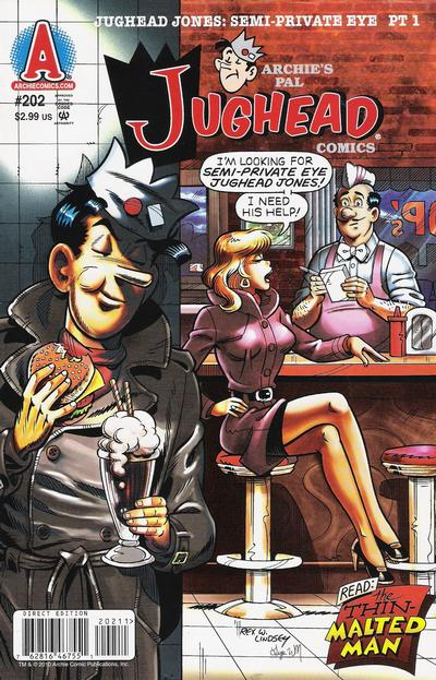 Cover for Archie's Pal Jughead Comics (Archie, 1993 series) #202