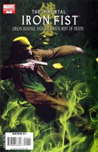 Cover Thumbnail for The Immortal Iron Fist: Orson Randall and the Green Mist of Death (Marvel, 2008 series) #1 [Direct]