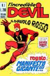 Cover for L' Incredibile Devil (Editoriale Corno, 1970 series) #1