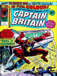 Cover for Captain Britain (Marvel UK, 1976 series) #6