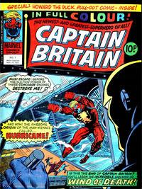 Cover Thumbnail for Captain Britain (Marvel UK, 1976 series) #7
