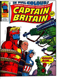 Cover for Captain Britain (Marvel UK, 1976 series) #23