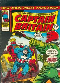 Cover for Captain Britain (Marvel UK, 1976 series) #25