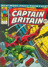Cover for Captain Britain (Marvel UK, 1976 series) #26