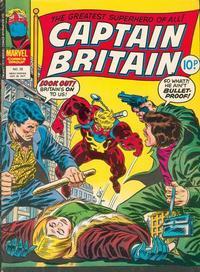 Cover Thumbnail for Captain Britain (Marvel UK, 1976 series) #28