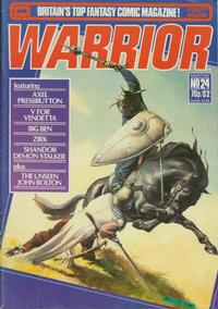 Cover for Warrior (Quality Communications, 1982 series) #24