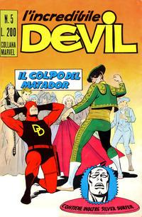 Cover for L'Incredibile Devil (Editoriale Corno, 1970 series) #5
