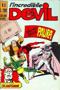 Cover Thumbnail for L'Incredibile Devil (Editoriale Corno, 1970 series) #6