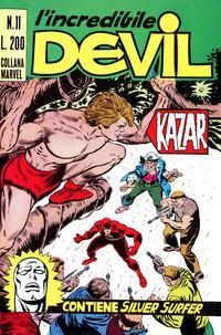 Cover Thumbnail for L' Incredibile Devil (Editoriale Corno, 1970 series) #11