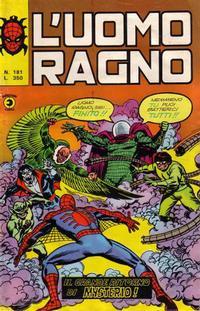 Cover Thumbnail for L' Uomo Ragno [Collana Super-Eroi] (Editoriale Corno, 1970 series) #181