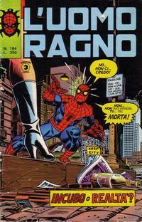 Cover Thumbnail for L'Uomo Ragno [Collana Super-Eroi] (Editoriale Corno, 1970 series) #184