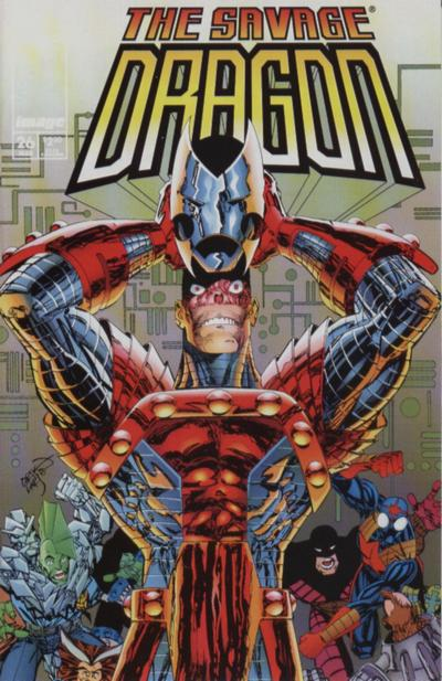 Cover for Savage Dragon (Image, 1993 series) #26 [Newsstand]