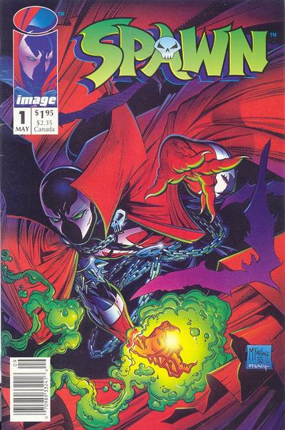 Cover for Spawn (Image, 1992 series) #1 [Newsstand]