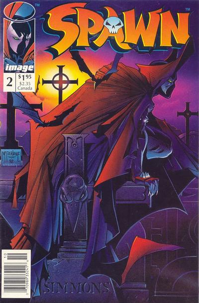 Cover for Spawn (Image, 1992 series) #2 [Newsstand]
