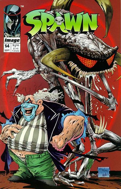 Cover for Spawn (Image, 1992 series) #14 [Newsstand Edition]
