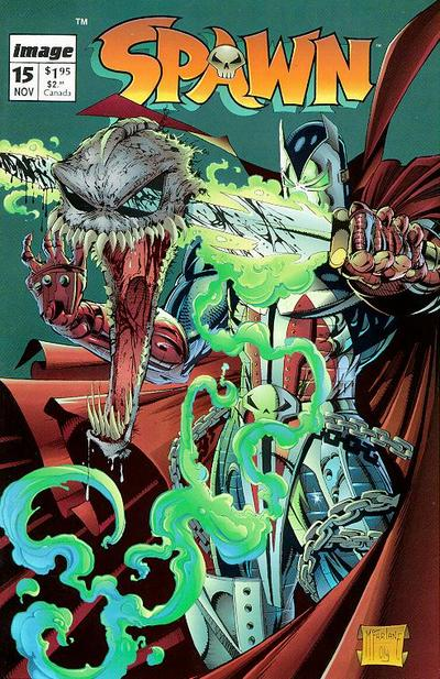 Cover for Spawn (Image, 1992 series) #15 [Direct]