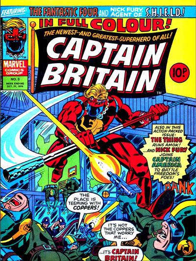 Cover for Captain Britain (Marvel UK, 1976 series) #3