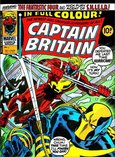 Cover for Captain Britain (Marvel UK, 1976 series) #5