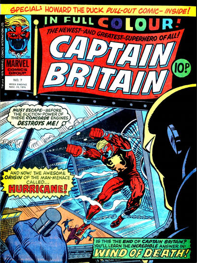 Cover for Captain Britain (Marvel UK, 1976 series) #7