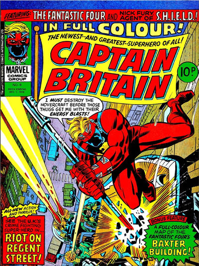 Cover for Captain Britain (Marvel UK, 1976 series) #8