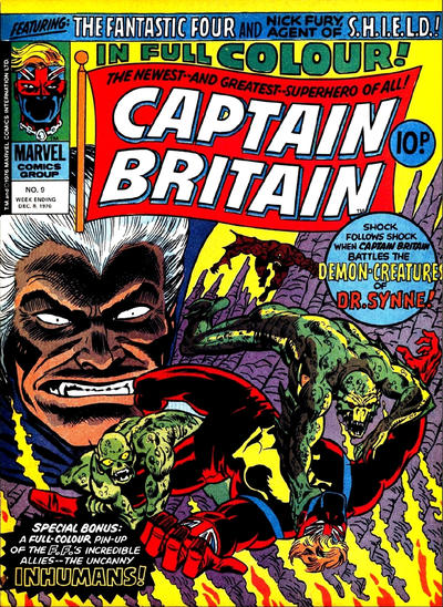 Cover for Captain Britain (Marvel UK, 1976 series) #9