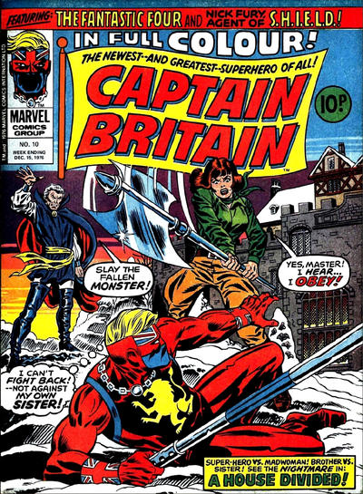 Cover for Captain Britain (Marvel UK, 1976 series) #10