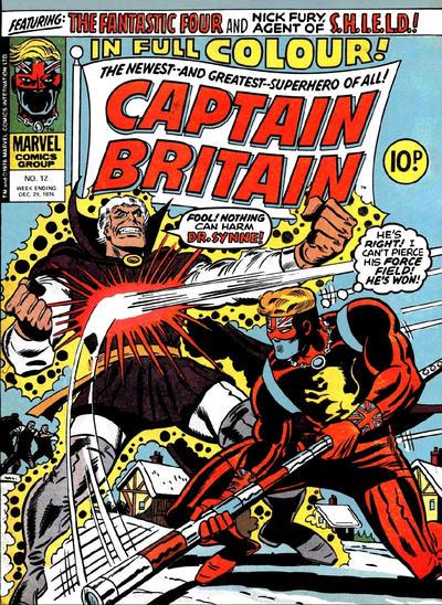 Cover for Captain Britain (Marvel UK, 1976 series) #12