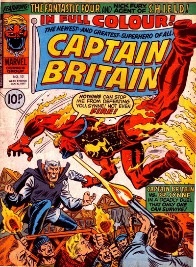 Cover for Captain Britain (Marvel UK, 1976 series) #13