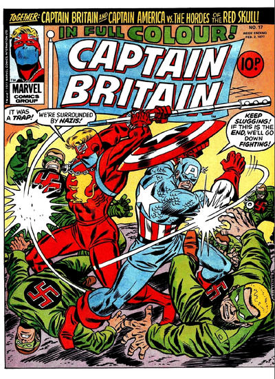 Cover for Captain Britain (Marvel UK, 1976 series) #17