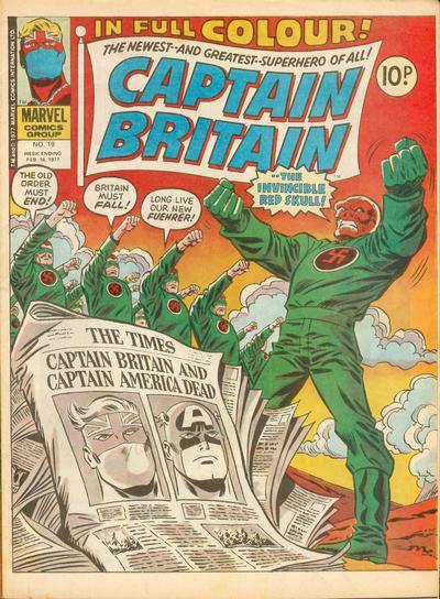 Cover for Captain Britain (Marvel UK, 1976 series) #19