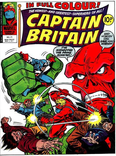 Cover for Captain Britain (Marvel UK, 1976 series) #21