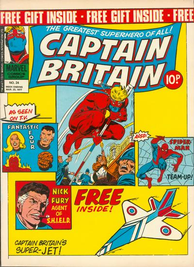 Cover for Captain Britain (Marvel UK, 1976 series) #24