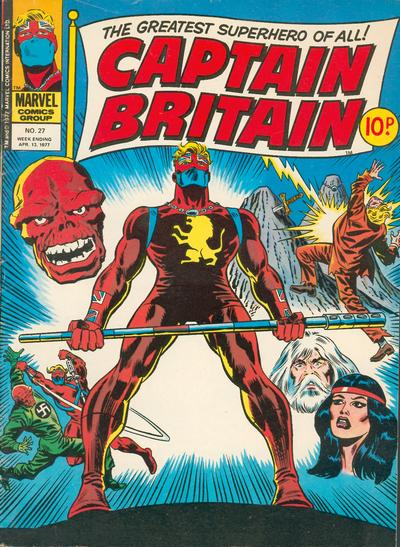 Cover for Captain Britain (Marvel UK, 1976 series) #27