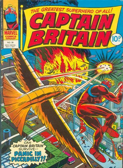 Cover for Captain Britain (Marvel UK, 1976 series) #30