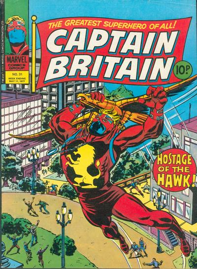 Cover for Captain Britain (Marvel UK, 1976 series) #31