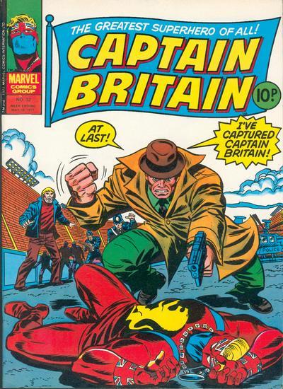 Cover for Captain Britain (Marvel UK, 1976 series) #32