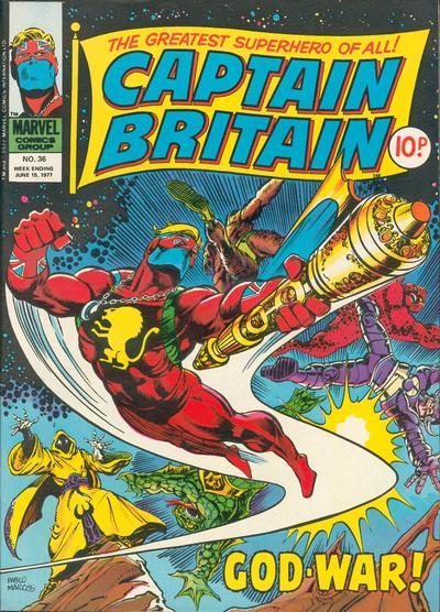 Cover for Captain Britain (Marvel UK, 1976 series) #36