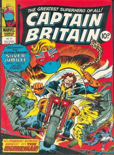 Cover for Captain Britain (Marvel UK, 1976 series) #37