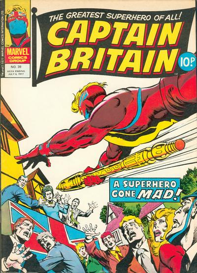 Cover for Captain Britain (Marvel UK, 1976 series) #39