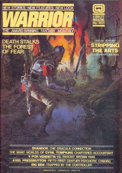 Cover for Warrior (Quality Communications, 1982 series) #25