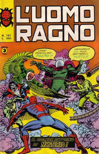 Cover for L'Uomo Ragno [Collana Super-Eroi] (Editoriale Corno, 1970 series) #181