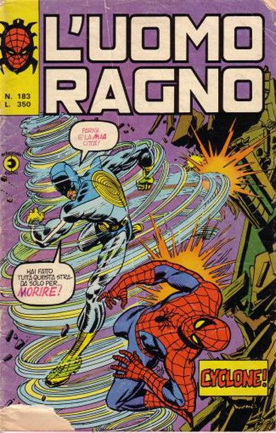 Cover for L'Uomo Ragno [Collana Super-Eroi] (Editoriale Corno, 1970 series) #183