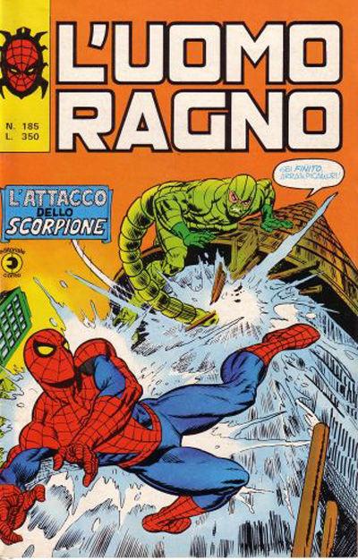 Cover for L'Uomo Ragno [Collana Super-Eroi] (Editoriale Corno, 1970 series) #185