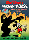 Cover for Four Color (Dell, 1939 series) #16 - Walt Disney's Mickey Mouse Outwits the Phantom Blot